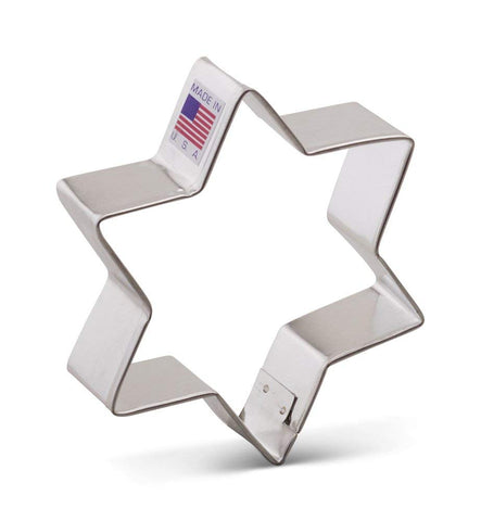 Star of David Cookie Cutter - 3.75 Inches -Ann Clark- Tin Plated Steel - Cricket Creek