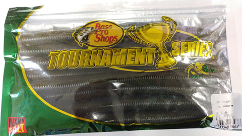 Bass Pro Shops Stik-O Worm - 7-1/8'' - Green Pumpkin 8pk
