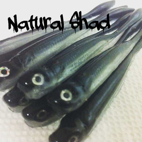 "KLM Worms 4"" Drop Shot Minnow - Natural Shad 6/pack"