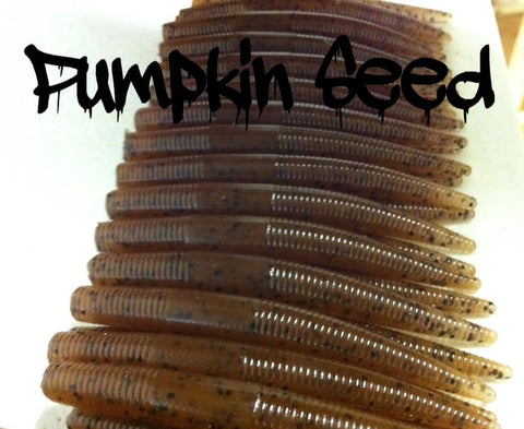 "KLM Worms 3-1/2"" Mini Stix - Pumpkin Seed 10/pack"