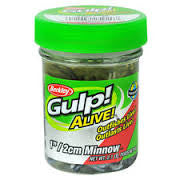 "Berkley Gulp Alive 1"" Minnow Black Shad 2.1 oz"