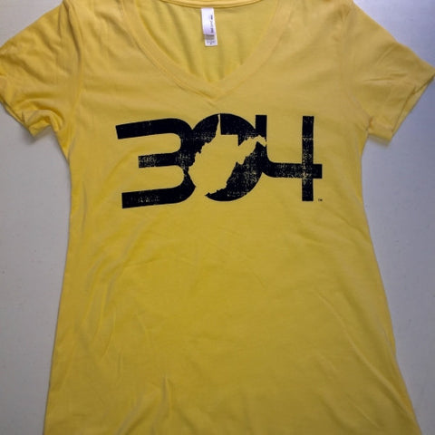 304 Ladies Gold V-Neck Tee