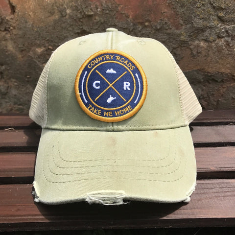 Loving WV - Distressed CR Patch Trucker Hat (Green)