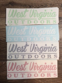 "WVO Solid Logo Decal - 14"" - Various Colors"