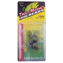 Trout Magnet Jig Heads - Black 1/64 oz - 5pk