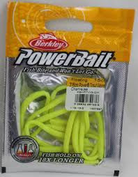 "Berkley Power Bait Floating Trout worm 3"" Chartreuse  -15 pk"