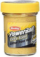 Berkley Trout Bait - Glitter Garlic Scent - Yellow