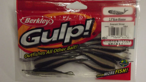 "Berkley Gulp 2.5"" Minnow Emerald Shiner - 18pk"
