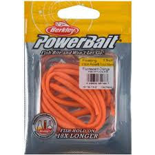 "Berkley Power Bait Floating Trout worm 3"" Fluorescent Orange - 15 pk"