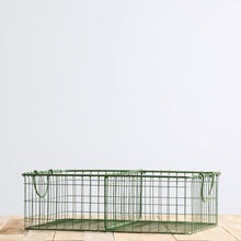 Green Metal Wire Basket Shelves