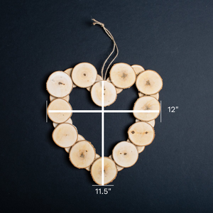 Small Wooden Heart Wreath