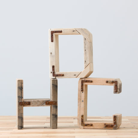Rustic Block Letters