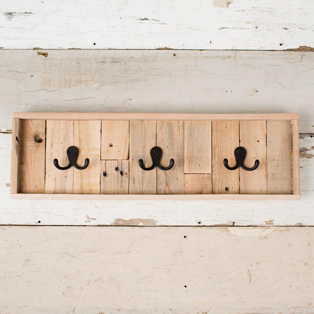 Framed Wooden Wall Hook