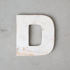 White Distressed Letters