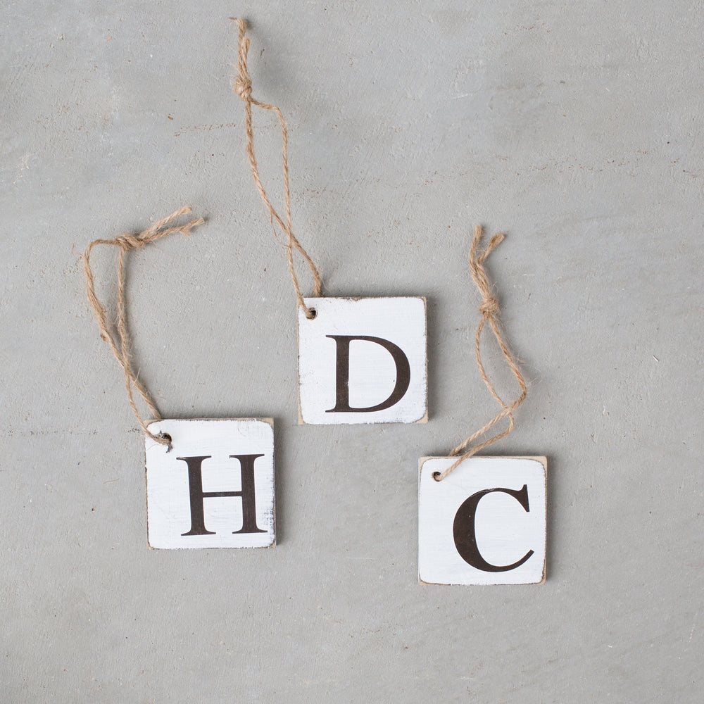 Wooden Letter Tags Harp Design Co