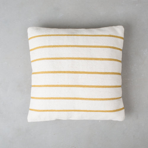 Wool Stripe Pillow - Yellow