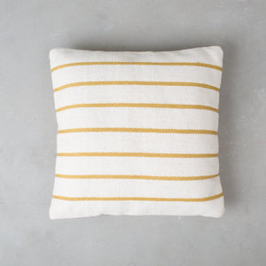 Yellow Wool Stripe Pillow