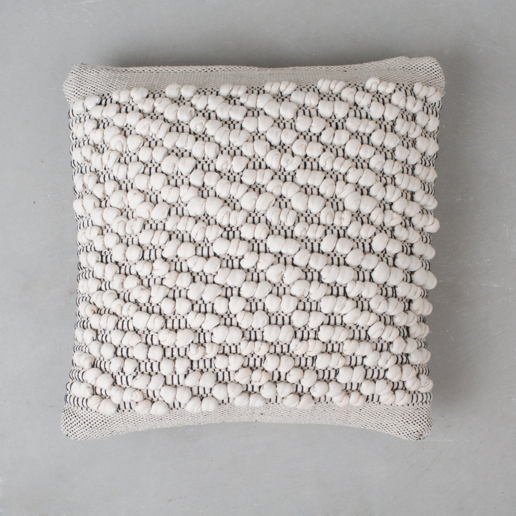 Beige Cotton Pillow