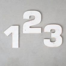 White Distressed Numbers