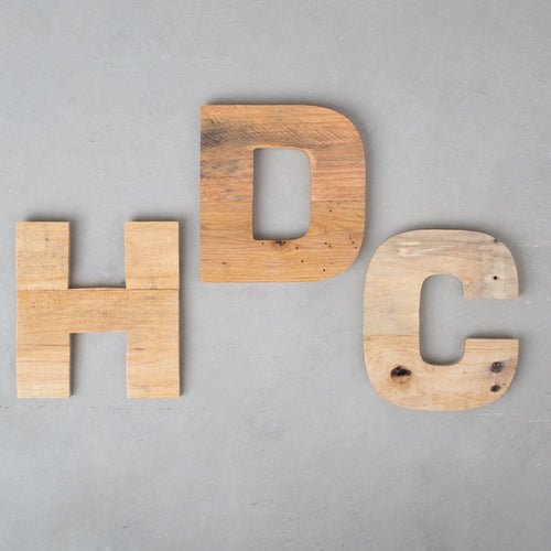 Natural Distressed Letters