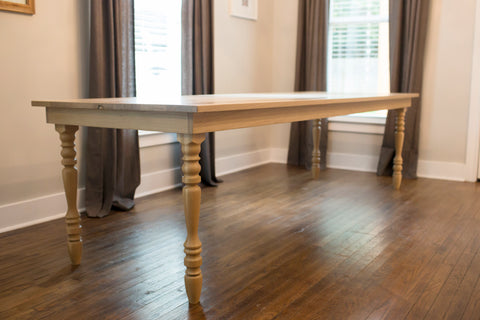Original Farmhouse Dining Table White Oak