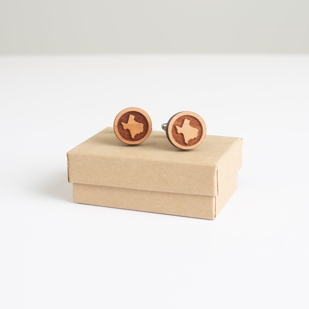 Texas Wooden Cufflinks