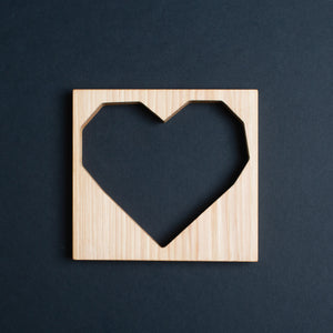 HDC Geometric Hickory Heart Cutout