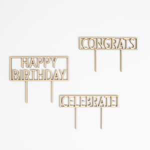 Cake Topper Celebration Pack-Modern Font