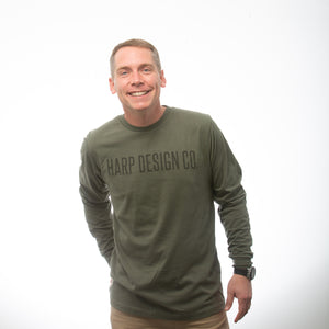Harp Design Co. Long Sleeved T-Shirt OLIVE