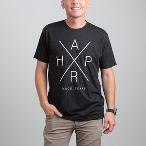 HARP X Graphic T-Shirt Heather Black