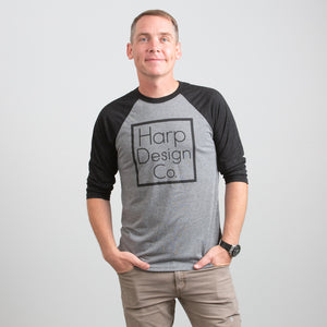 Signature Black and Grey Baseball T-Shirt