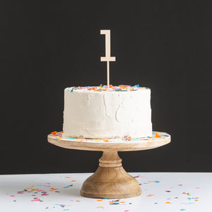 Cake Topper Wooden Number Set