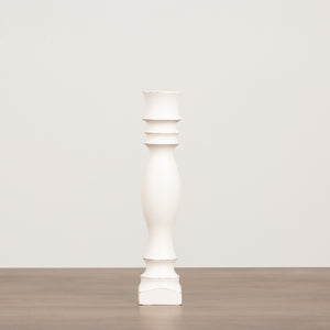 HDC Signature Candlesticks White Distressed