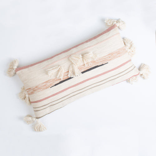 Fringe Pillow with Tassels