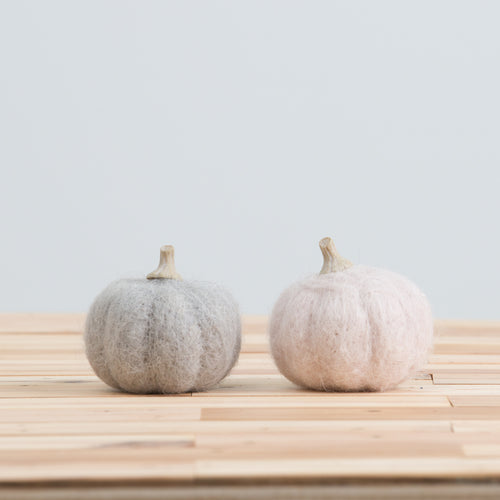 Wool Felt Pumpkin Small
