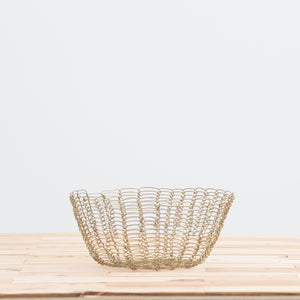 Gold Scallop Wire Bowl