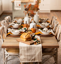 Khaki Stripe Table Runner