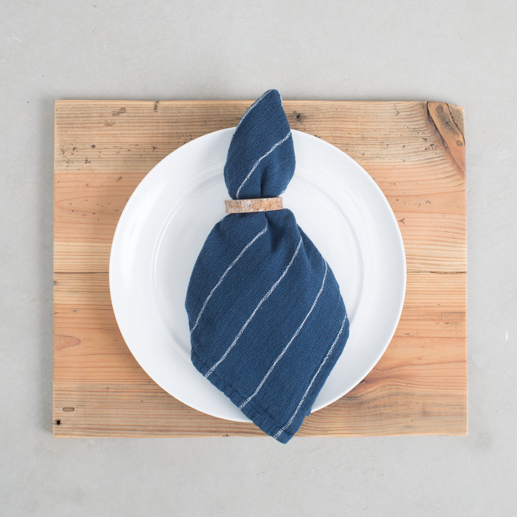 Blue Striped Napkin Set