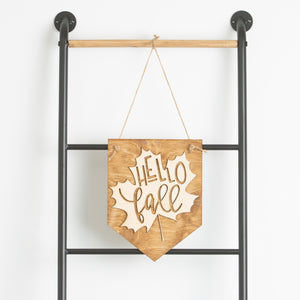 """Hello Fall"" Sign"