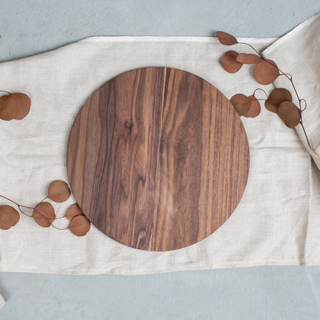 Round Walnut Charger
