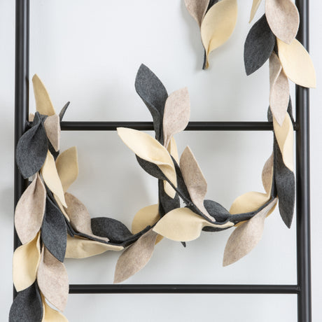 Felt Neutral Leaf Garland