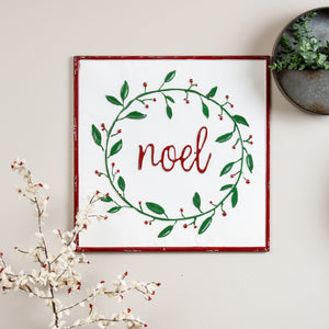 Noel Wreath Wall Decor