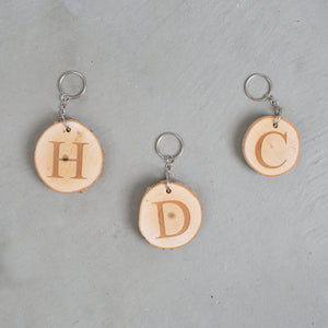 Wood Slice Keychain