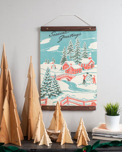Season's Greetings Vintage Poster