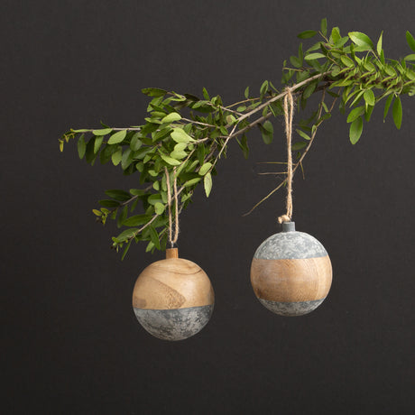 Round Wood Ball Ornament