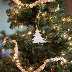 White HDC tree ornament
