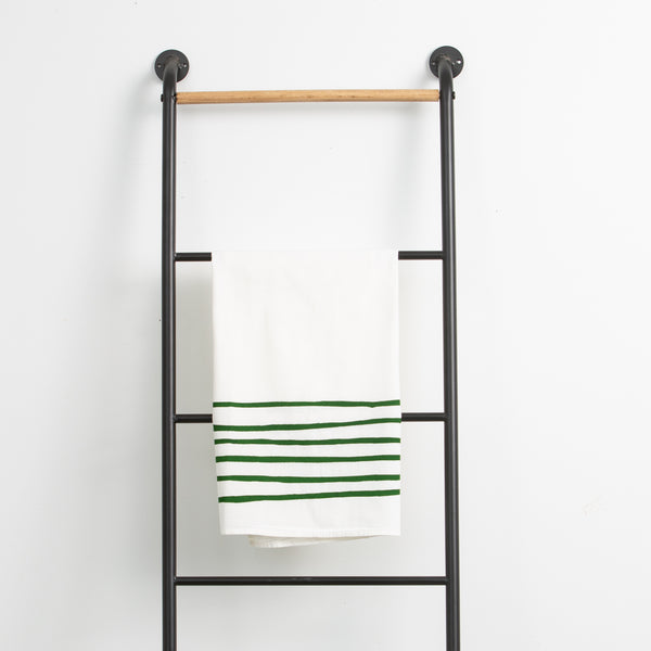 Green Stripes Towel