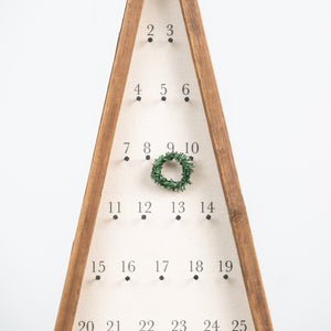 Canvas and Reclaimed Wood Advent Tree