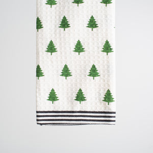Tree Striped Towel (North Pole Dishtowel)