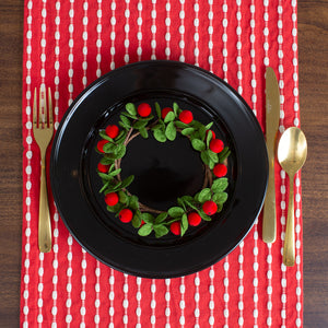 Felt Wreath with Red Berries